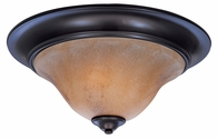 Framburg Lighting - Black Forest Flush Mounts and Semi-Flush Mounts in Mahogany Bronze/Amber Marble - FBG-9152