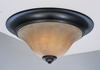 Framburg Lighting (9152) Two Light Flush Mount from the Black Forest Collection