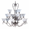 Framburg Lighting (9165) Fifteen Light Chandelier from the Black Forest Collection