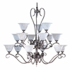 Framburg Lighting (9165) 15-Light Black Forest Foyer Chandelier