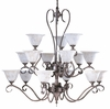Framburg Lighting - Black Forest Foyer Chandeliers in Mahogany Bronze/Amber Marble - FBG-9165
