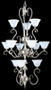 Framburg Lighting - Black Forest Foyer Chandeliers in Satin Pewter/White - FBG-9156