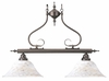 Framburg Lighting - Black Forest Island Chandeliers in Mahogany Bronze/Amber Marble - FBG-9162