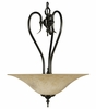 Framburg Lighting - Black Forest Pendants in Ebony w/ Amber Marble - FBG-9170