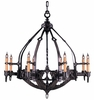 Framburg Lighting - Centennial Foyer Chandeliers in Mahogany Bronze - FBG-1658
