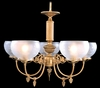 Framburg Lighting - Chancery Dining Chandeliers in Bronzed Gold Leaf - FBG-7525