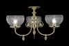 Framburg Lighting (7523) Three Light Semi-Flush Mount from the Chancery Collection