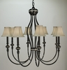 Framburg Lighting (1298) Eight Light Chandelier from the Princessa Collection