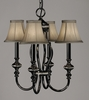 Framburg Lighting (1294) Four Light Chandelier from the Princessa Collection
