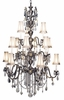 Framburg Lighting (9286) Fifteen Light Chandelier from the Czarina Collection