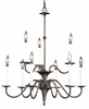 Framburg Lighting - Early American Dining Chandeliers in Mahogany Bronze - FBG-9229