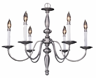 Framburg Lighting - Early American Dining Chandeliers in Satin Pewter - FBG-7916