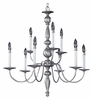 Framburg Lighting - Early American Dining Chandeliers in Satin Pewter - FBG-7919
