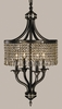 Framburg Lighting (1494) Four Light Chandelier from the Princessa Collection