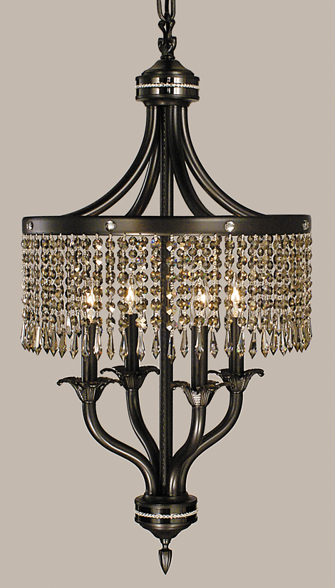 Framburg Lighting - Empress Dinette Chandeliers in Mahogany Bronze w/ Ebony Accents - FBG-1494