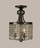 Framburg Lighting (1497) Three Light Semi-Flush Mount from the Princessa Collection