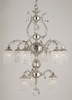 Framburg Lighting (1829) Nine Light Chandelier from the Czarina Collection