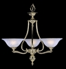 Framburg Lighting - Fin De Siecle Dinette Chandeliers in Polished Brass/ Nuage - FBG-7998