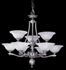 Framburg Lighting - Fin De Siecle Dining Chandeliers in Satin Pewter/ Nuage - FBG-7999