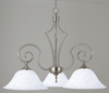Framburg Lighting (2218) Three Light Chandelier from the Black Forest Collection