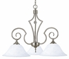 Framburg Lighting (2218) 3-Light Black Forest Dinette Chandelier