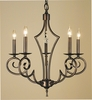 Framburg Lighting (2215) Five Light Chandelier from the Black Forest Collection