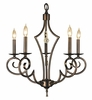 Framburg Lighting (2215) 5-Light Black Forest Dinette Chandelier