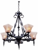 Framburg Lighting - Galicia Dining Chandeliers in Charcoal - FBG-1795