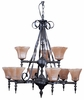 Framburg Lighting - Galicia Dining Chandeliers in Charcoal - FBG-1799