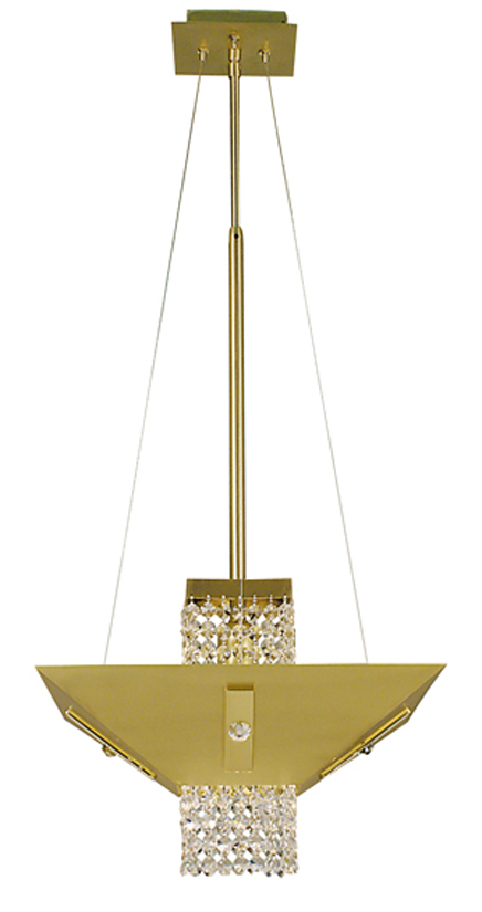 Framburg Lighting - Gemini Dining Chandeliers in Satin Brass w/ polished brass & clear crystal - FBG-2003