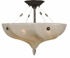 Framburg Lighting - Giselle Flush Mounts and Semi-Flush Mounts in Mahogany Bronze - FBG-3472