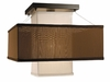 Framburg Lighting - Gymnopedie Flush Mounts and Semi-Flush Mounts in Mahogany bronze w/ White sheer & chocolate - FBG-2134