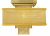 Framburg Lighting - Gymnopedie Flush Mounts and Semi-Flush Mounts in Satin Brass w/ gold sheer shade - FBG-2111