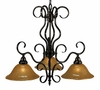 Framburg Lighting - H�uschen Dinette Chandeliers in Ebony - FBG-1768
