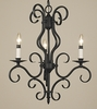 Framburg Lighting (1753) Three Light Chandelier from the Black Forest Collection