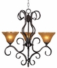 Framburg Lighting - H�uschen Dinette Chandeliers in Mahogany Bronze - FBG-1753