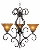 Framburg Lighting (1753) 3-Light Black Forest Dinette Chandelier
