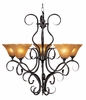 Framburg Lighting (1755) Five Light Chandelier from the Black Forest Collection