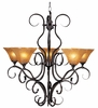 Framburg Lighting - H�uschen Dining Chandeliers in Mahogany Bronze - FBG-1755