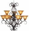 Framburg Lighting - H�uschen Dining Chandeliers in Mahogany Bronze - FBG-1759