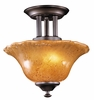 Framburg Lighting - H�uschen Flush Mounts and Semi-Flush Mounts in Mahogany Bronze - FBG-1757