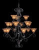 Framburg Lighting (1765) Fifteen Light Chandelier from the Black Forest Collection