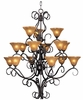 Framburg Lighting - H�uschen Foyer Chandeliers in Mahogany Bronze - FBG-1765
