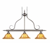 Framburg Lighting (1763) 3-Light Black Forest Island Chandelier