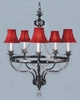 Framburg Lighting (2065) Five Light Chandelier from the Princessa Collection