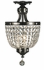 Framburg Lighting (2066) Three Light Semi-Flush Mount from the Princessa Collection