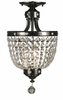 Framburg Lighting (2066) 3-Light Princessa Flush / Semi-Flush Mount