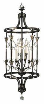 Framburg Lighting - Isolde Foyer Chandeliers in Ebony - FBG-2069