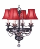 Framburg Lighting - Isolde Mini Chandeliers in Ebony - FBG-2064