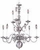 Framburg Lighting - Jamestown Dining Chandeliers in Satin Pewter - FBG-9129